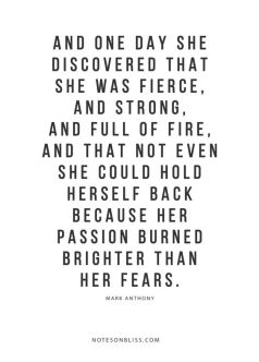 and one day she discovered